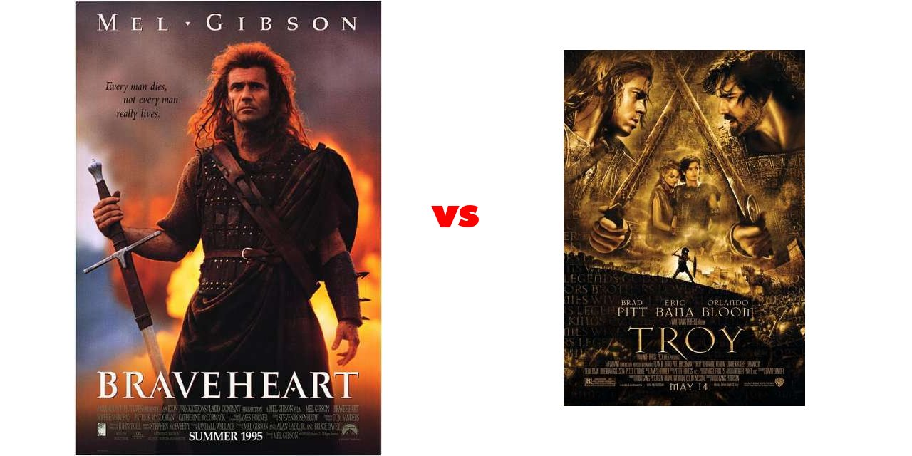 braveheart vs gladiator