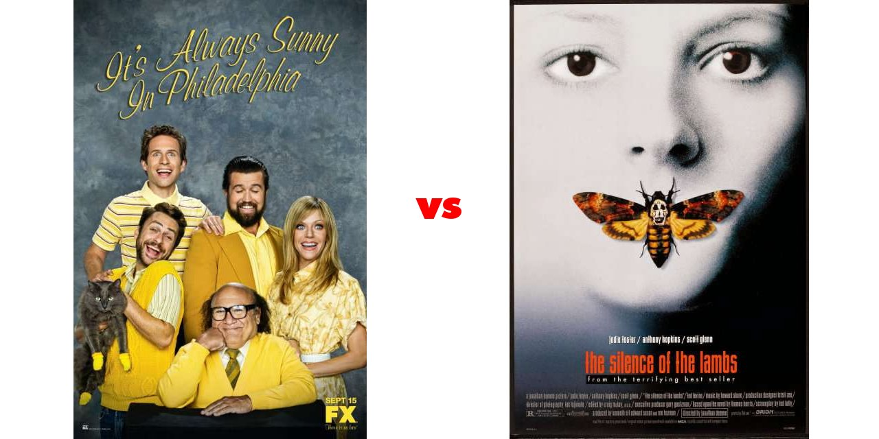 It\'s Always Sunny In Philadelphia vs The Silence of the Lambs on The ...