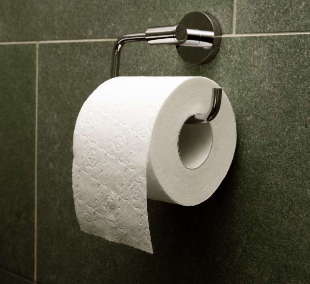 Toilet roll over